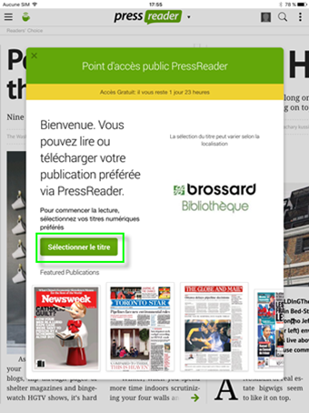 Guide PressReader Mobile 01